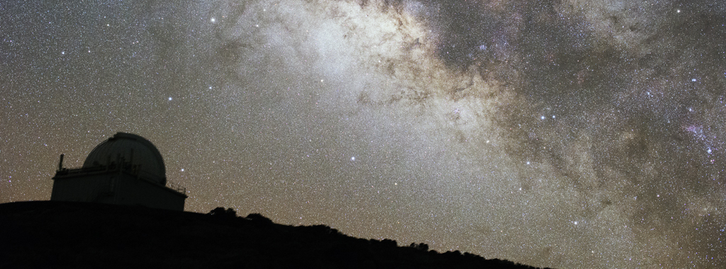 Milky Way above the Jacobus Kapteyn Telescope at La Palma.