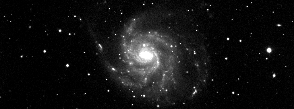 The Pinwheel Galaxy (M101), picture taken at Humain, Belgium.