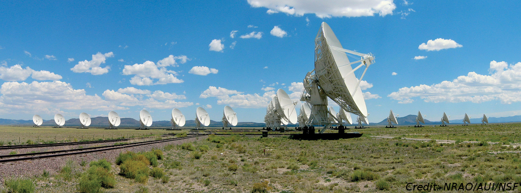 The Very Large Array in New Mexico; Credit: NRAO/AUI/NSF